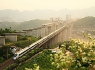 Xinjingkou Crossing-Jialing River Bridge of the Lanzhou-Chongqing Railway